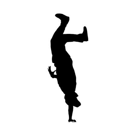 Hip Hop Dancer Silhouette. Smooth and Clean Design. Vector Illustration.