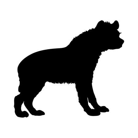 Hyena silhouette. Smooth and clean lines. High detailed Hyena silhouette. Vector Illustration. Vecteurs