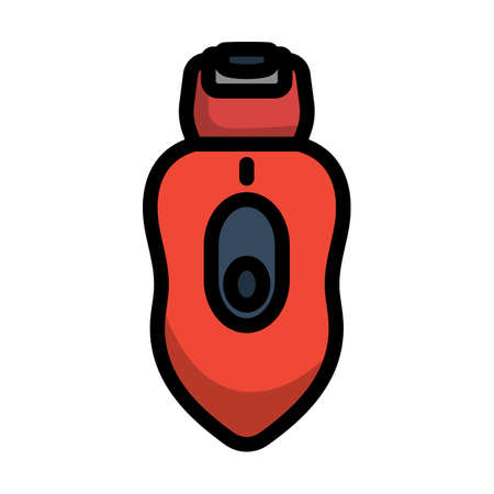 Depilator Icon. Editable Bold Outline With Color Fill Design. Vector Illustration.