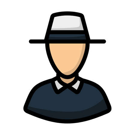 Cricket Umpire Icon. Editable Bold Outline With Color Fill Design. Vector Illustration.
