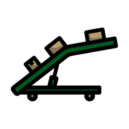 Warehouse Transportation System Icon. Editable Bold Outline With Color Fill Design. Vector Illustration.