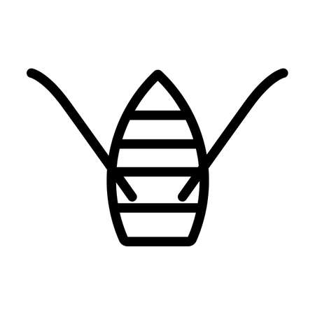 Paddle Boat Icon. Editable Bold Outline Design. Vector Illustration.