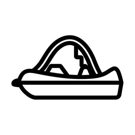 Catamaran Icon. Editable Bold Outline Design. Vector Illustration.