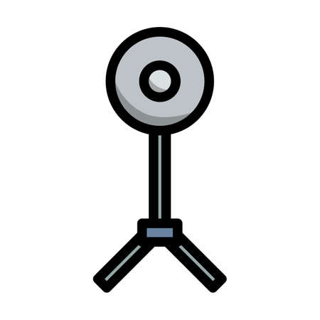 Icon Of Beauty Dish Flash. Editable Bold Outline With Color Fill Design. Vector Illustration.
