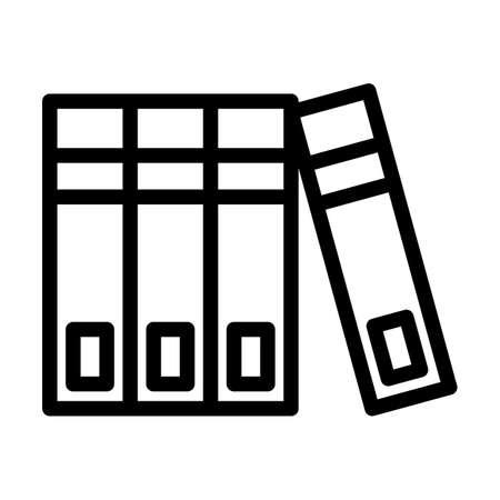 Code Of Laws Icon. Editable Bold Outline Design. Vector Illustration. Vektorgrafik