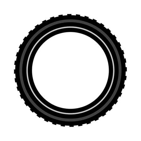 Bike Tire Icon. Editable Bold Outline With Color Fill Design. Vector Illustration. Vektorgrafik