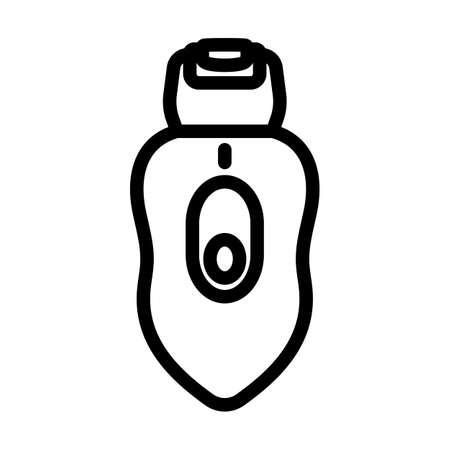 Depilator Icon. Editable Bold Outline Design. Vector Illustration. Vektorgrafik