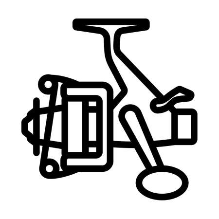 Icon Of Fishing Reel. Bold outline design with editable stroke width. Vector Illustration.