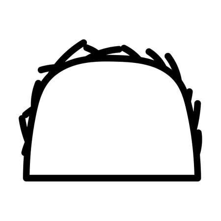 Hay Stack Icon. Bold outline design with editable stroke width. Vector Illustration.