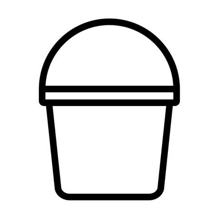 Bucket Icon. Bold outline design with editable stroke width. Vector Illustration.