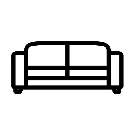 Office Sofa Icon. Bold outline design with editable stroke width. Vector Illustration.