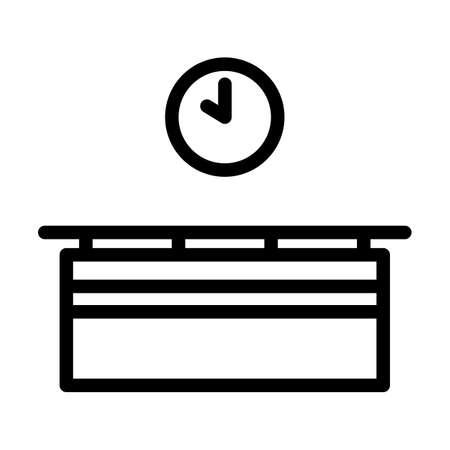 Office Reception Desk Icon. Bold outline design with editable stroke width. Vector Illustration.