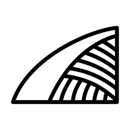 Agriculture Field Icon. Bold outline design with editable stroke width. Vector Illustration. Illusztráció