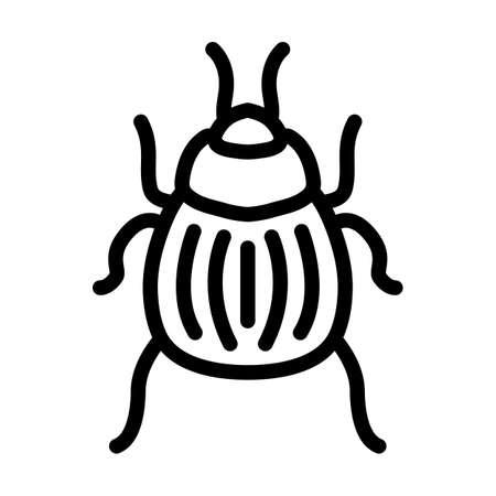 Colorado Beetle Icon. Bold outline design with editable stroke width. Vector Illustration.