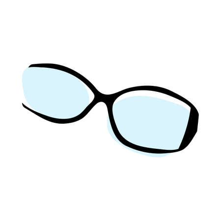Doodle sketch sunglasses with color fill. Simple design suitable for making greeting cards. Vector illustration. Illusztráció