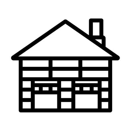 Warehouse Logistic Concept Icon. Bold outline design with editable stroke width. Vector Illustration.