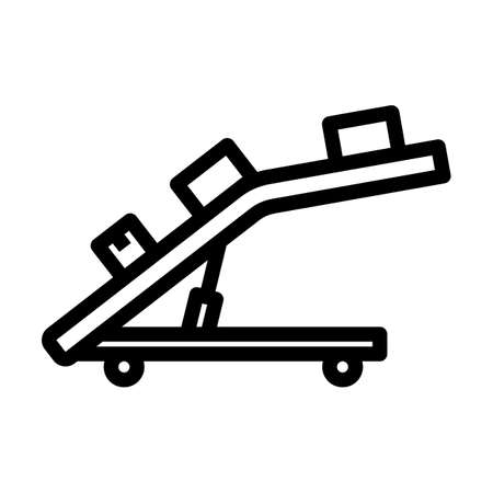 Warehouse Transportation System Icon. Bold outline design with editable stroke width. Vector Illustration. Vector Illustration