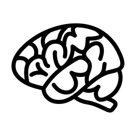 Brain Icon. Bold outline design with editable stroke width. Vector Illustration.