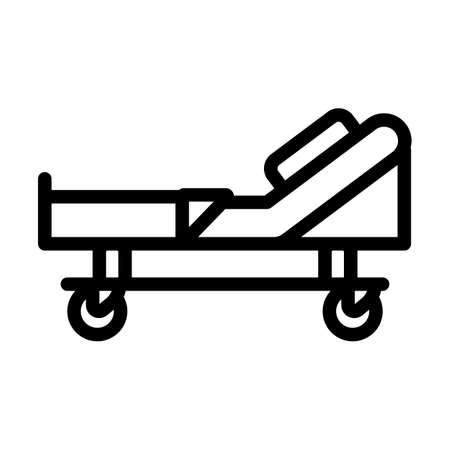 Hospital Bed Icon. Bold outline design with editable stroke width. Vector Illustration. Illusztráció