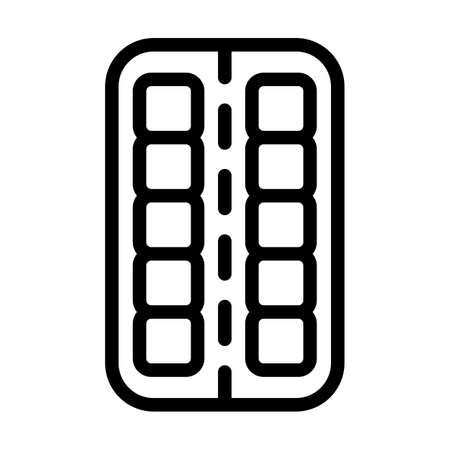 Tablets Pack Icon. Bold outline design with editable stroke width. Vector Illustration.