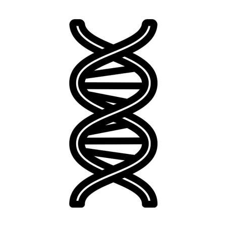 DNA Icon. Bold outline design with editable stroke width. Vector Illustration. Illusztráció