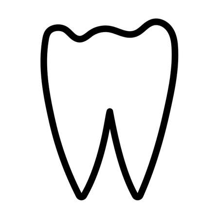 Tooth Icon. Bold outline design with editable stroke width. Vector Illustration.