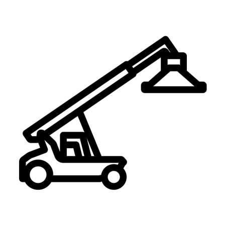 Port Loader Icon. Bold outline design with editable stroke width. Vector Illustration. Illusztráció