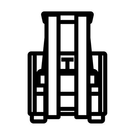 Warehouse Forklift Icon. Bold outline design with editable stroke width. Vector Illustration. Illusztráció