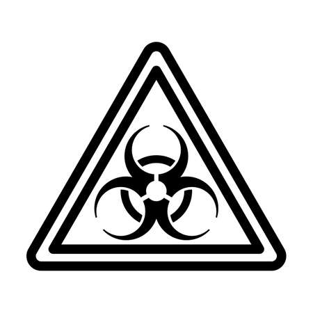 Biohazard Icon. Bold outline design with editable stroke width. Vector Illustration.