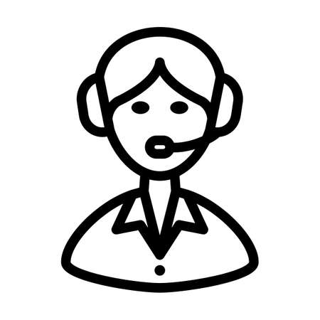 Logistic Dispatcher Consultant Icon. Bold outline design with editable stroke width. Vector Illustration.