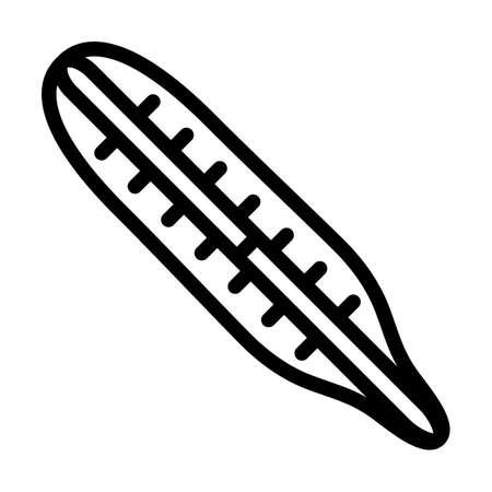 Medical Thermometer Icon. Bold outline design with editable stroke width. Vector Illustration. Illusztráció