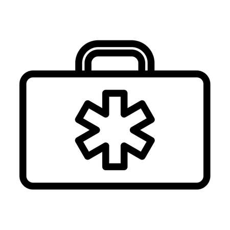 Medica Case Icon. Bold outline design with editable stroke width. Vector Illustration. Illusztráció