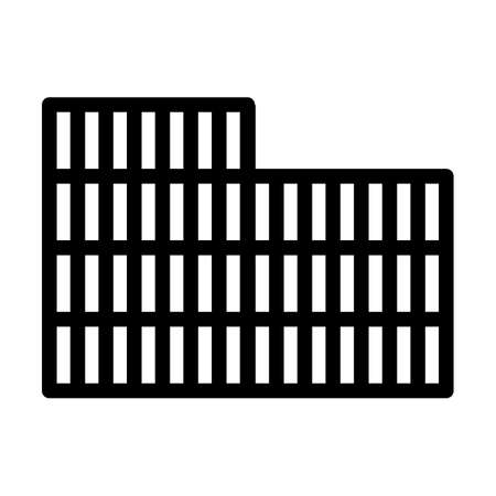 Container Stack Icon. Bold outline design with editable stroke width. Vector Illustration.