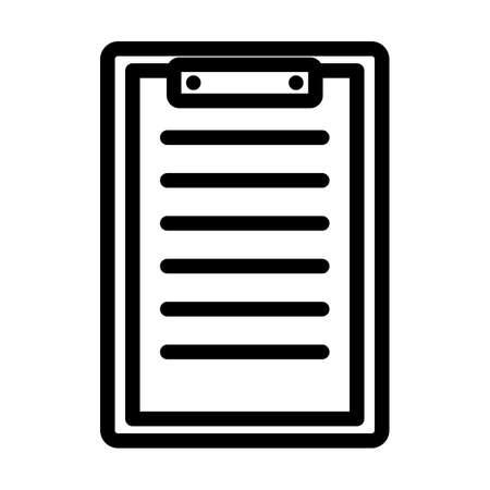 Disease History Icon. Bold outline design with editable stroke width. Vector Illustration. Illusztráció