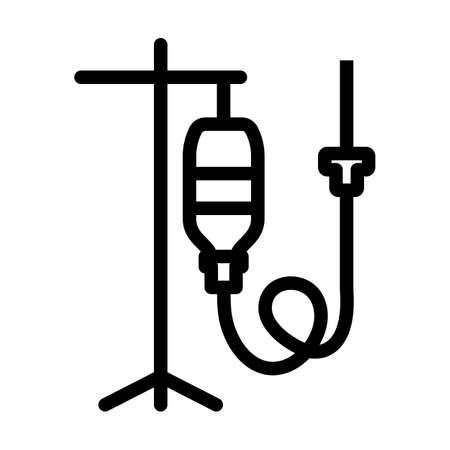 Drop Counter Icon. Bold outline design with editable stroke width. Vector Illustration. Illusztráció