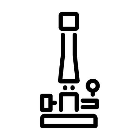 Icon Of Chemistry Burner. Bold outline design with editable stroke width. Vector Illustration. Ilustración de vector