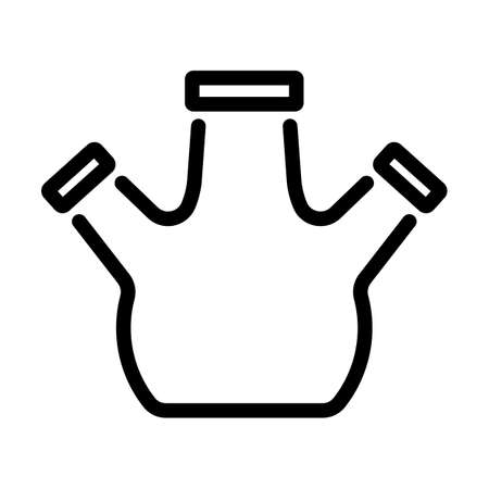 Icon Of Chemistry Round Bottom Flask. Bold outline design with editable stroke width. Vector Illustration.