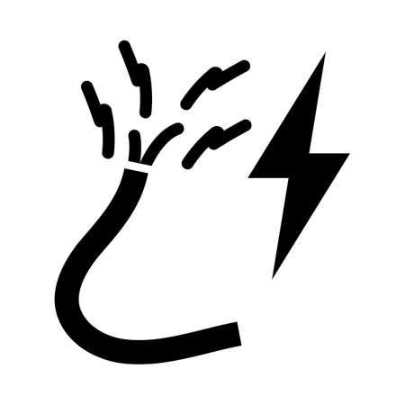 Icon Of Wire. Black Stencil Design. Vector Illustration.