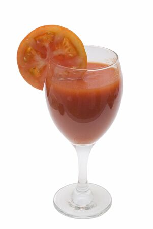 A cup of tomato juice. photo
