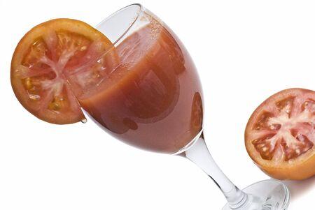 Fresh tomato juice. photo