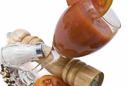 Making tomato juice. photo