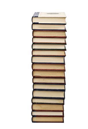 prose: A big column of books.