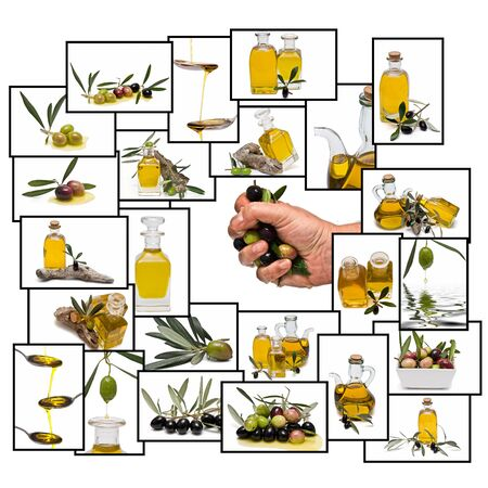 Olive oil composition. Stock Photo