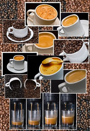 roasting: Coffee composition. Stock Photo