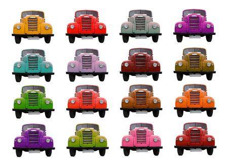 Colored trucks. photo