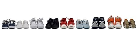 A baby shoes collection. photo
