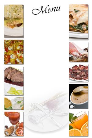 Menu for restaurants. photo