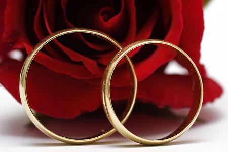 Two wedding rings. photo