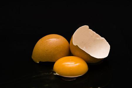 Fresh cracked egg. photo