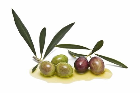 Olives and olive oil. Stock Photo - 6541039